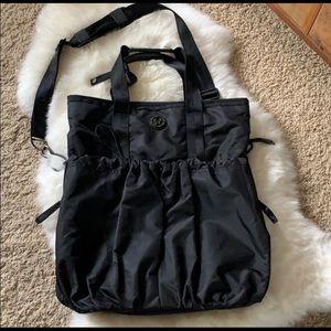Lululemon tonal stripe shoulder bag